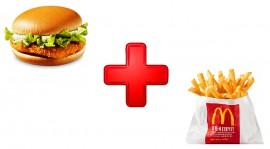 Хэппи Мил с чикенбургером и картофелем фри