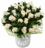 Букет Белый сад, 25 роз