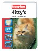 Beaphar Kitty's Taurine+Biotine витаминная добавка д/кошек, 75 шт.