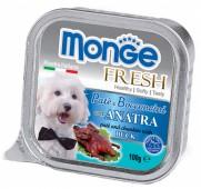 Monge Fresh  д/собак, утка, 100 гр.