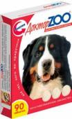 Доктор Zoo Здоровье кожи и шерсти, лакомство витаминное д/собак, 90 шт.