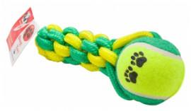 Игрушка Dog Toy канатная с теннисным мячом, 53 см.