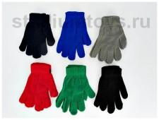 Перчатки  однотонные , 17 см.