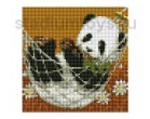 Алмазная мозайка  Медвежонок панда