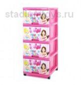 Комод с рисунком Dunya Party Girl, розовый
