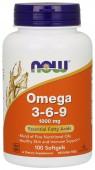 NOW Omega 3-6-9 1000 mg, 100 кап.