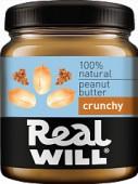 Real Will Паста из жареного арахиса Кранч, 330 гр.