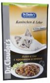 Влажный корм для кошек DR.CLAUDER'S кролик с печенью в соусе, 100 гр.