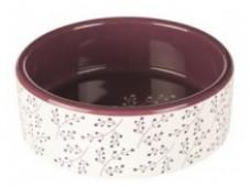 Миска для кошек TRIXIE керамическая, белый, ягодый, 300 мл.