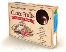 Конфеты ChocoFruits - Кизил и Шоколад