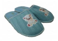 Домашние тапочки TinGo  НСА 7301 цвет голубой, 30-35
