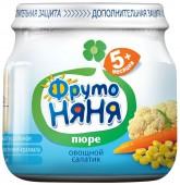 Пюре ФрутоНяня Овощной салатик с 5 месяцев, 80 г, 1 шт.