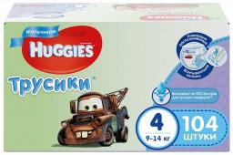 Трусики Huggies Disney Mega 4 для мальчиков, 104 шт, 9-14 кг.