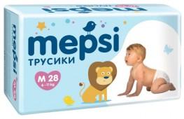 Трусики-подгузники Mepsi, 28 шт, 6-11 кг.