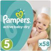 Подгузники Pampers Active Baby-Dry Размер 5, 58 шт, 11-18 кг.