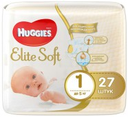 Подгузники Huggies Elite Soft 1, до 5 кг, 27 шт.