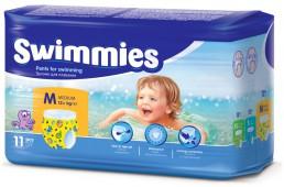 Подгузники-трусики Swimmies для плавания, 11 шт, 12+ кг.